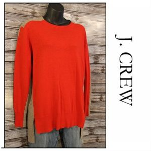 {XS/S}Red & Grey Pullover Sweater by J. Crew